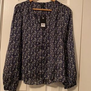 NWT Lucky Brand button up blouse